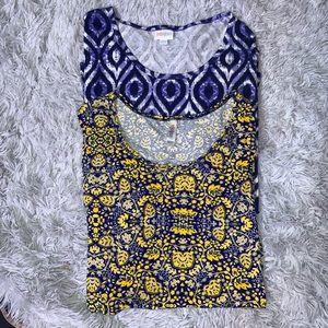 LuLa Roe shirts. Lot of 2 for $23. Sz L & XL